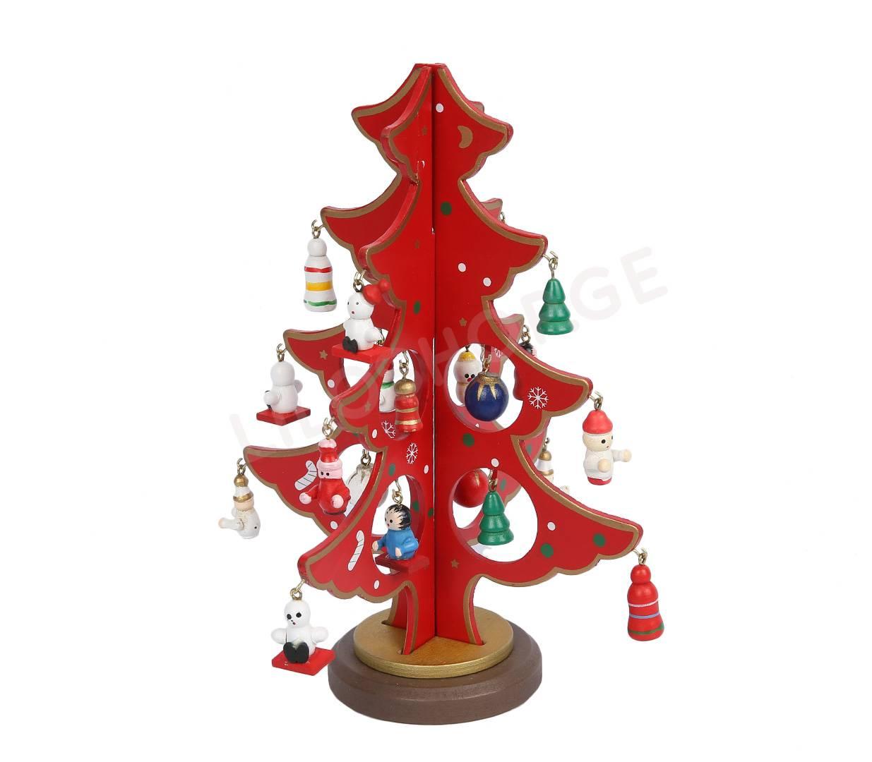 """საახალწლო ხის დეკორატიული """" ნაძვის ხე"""" წითელი 22563 ..."""
